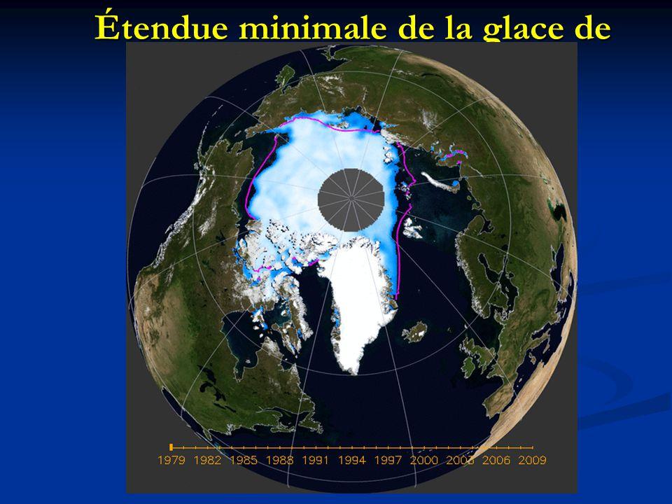 Étendue minimale de la glace de mer Arctique, 1979-2007
