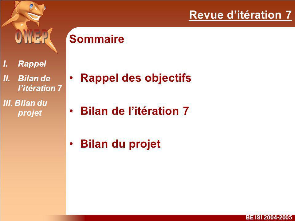 Revue ditération 7 BE ISI 2004-2005 I.