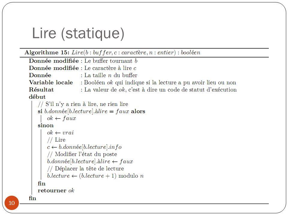 Lire (statique) 10