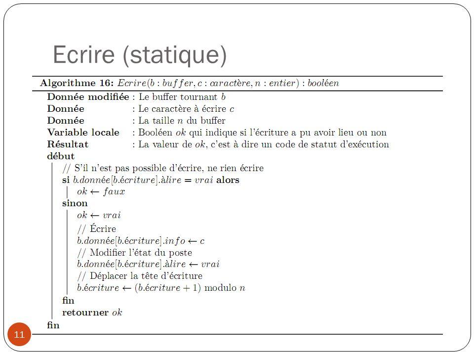 Ecrire (statique) 11