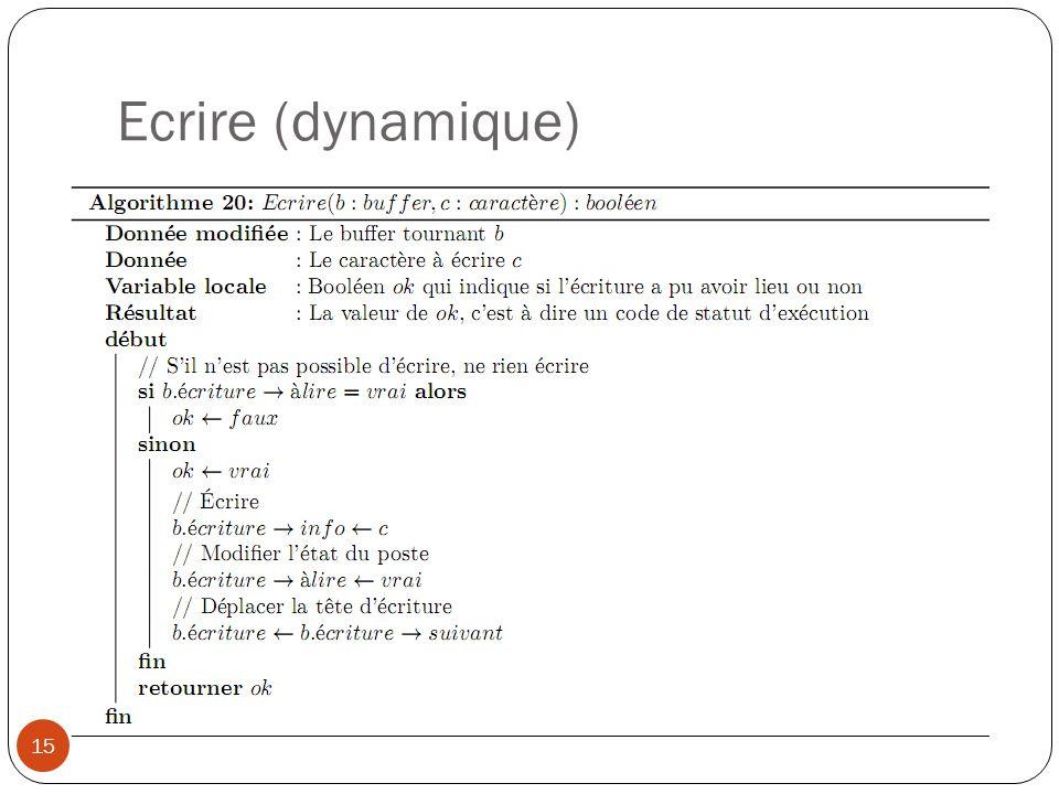 Ecrire (dynamique) 15