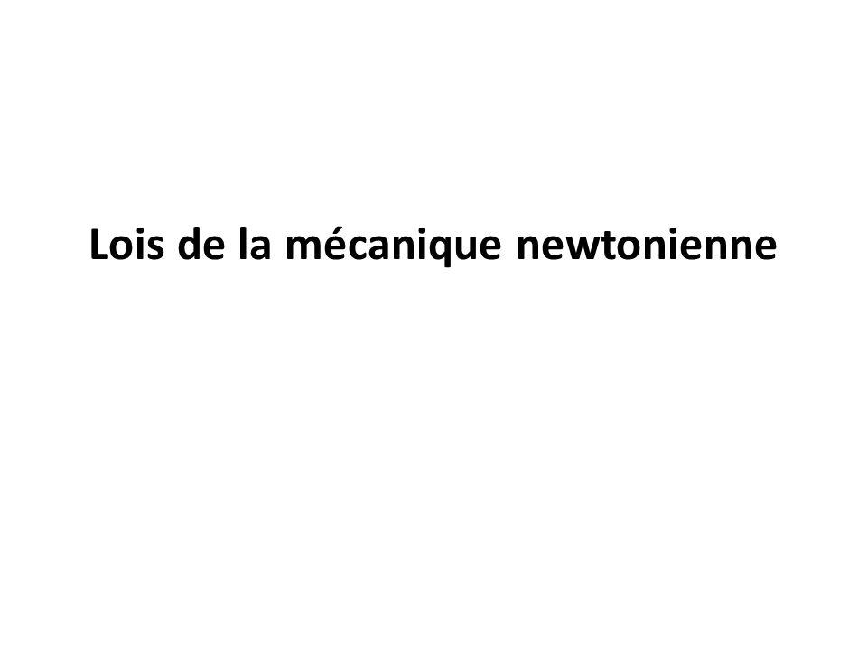 – Première loi de Newton : principe dinertie Les systèmes soumis à des forces extérieures dont la somme vectorielle est nulle sont appelés systèmes pseudo-isolés (ou isolés sils ne subissent aucune force – cas idéal).