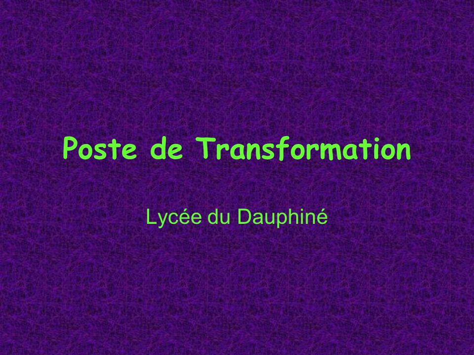 Poste de Transformation Lycée du Dauphiné