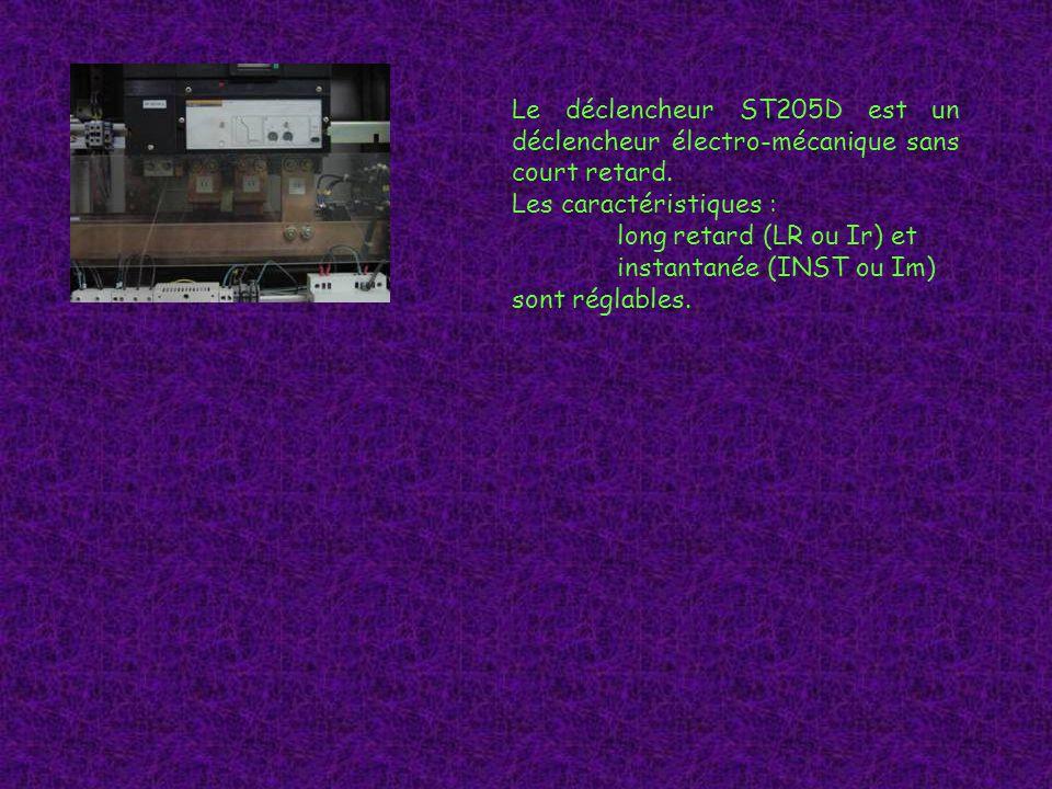 Le déclencheur ST205D est un déclencheur électro-mécanique sans court retard.