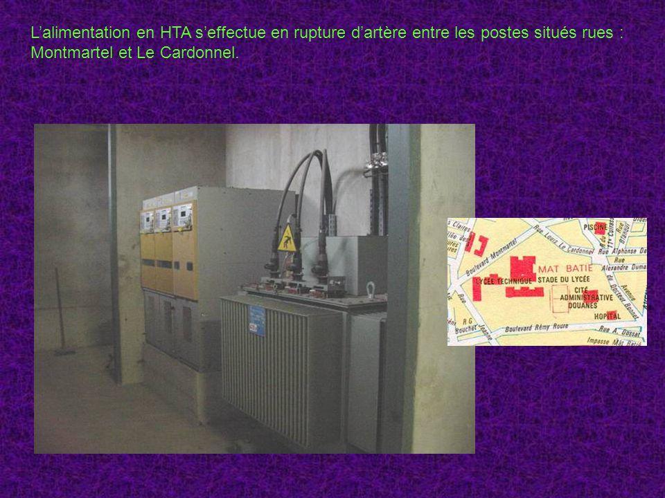 Lalimentation en HTA seffectue en rupture dartère entre les postes situés rues : Montmartel et Le Cardonnel.