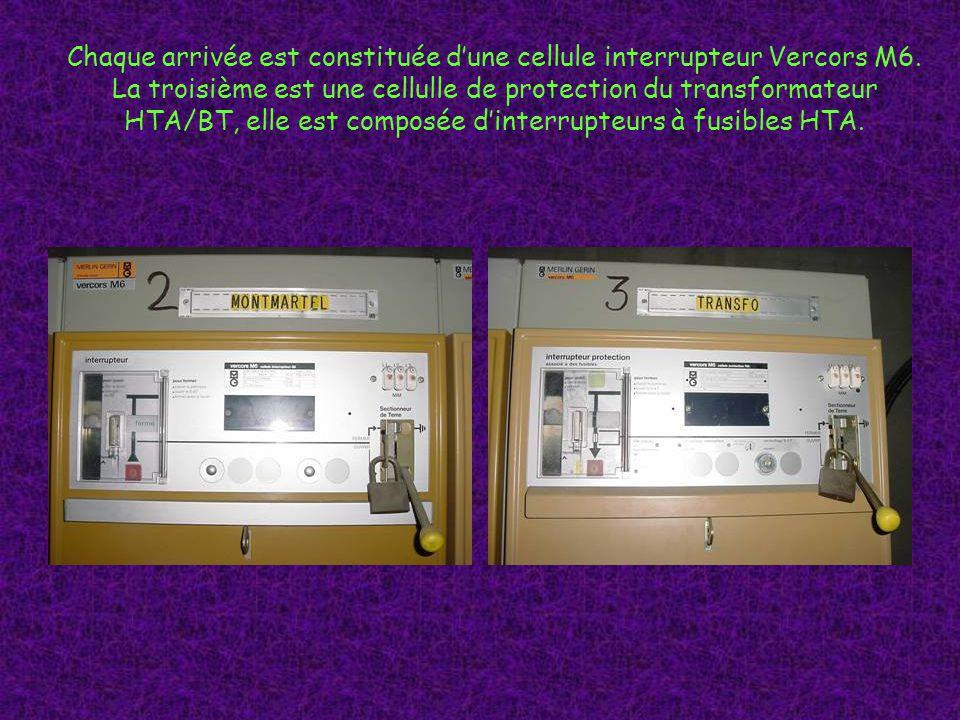 Chaque arrivée est constituée dune cellule interrupteur Vercors M6.