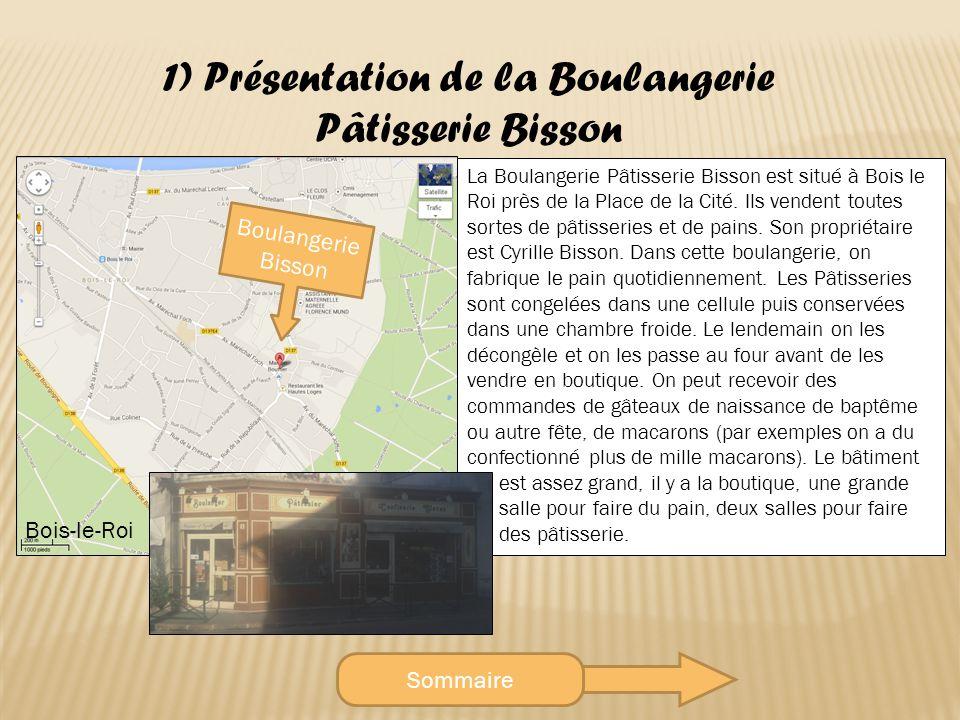 Sommaire 1) Présentation de la Boulangerie Pâtisserie Bisson Bois-le-Roi Boulangerie Bisson La Boulangerie Pâtisserie Bisson est situé à Bois le Roi près de la Place de la Cité.