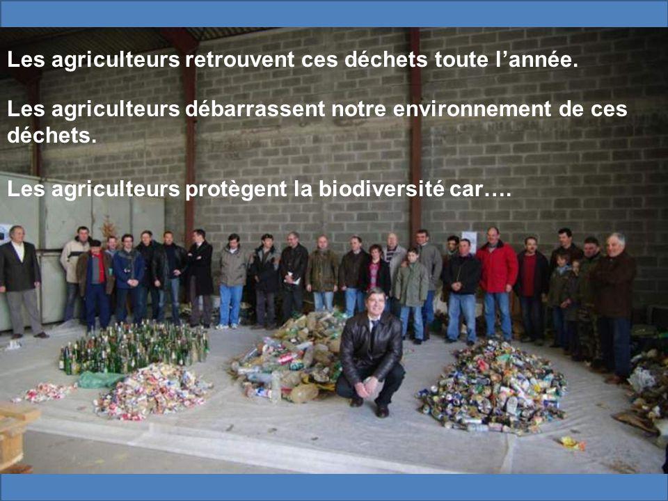 Les agriculteurs retrouvent ces déchets toute lannée.