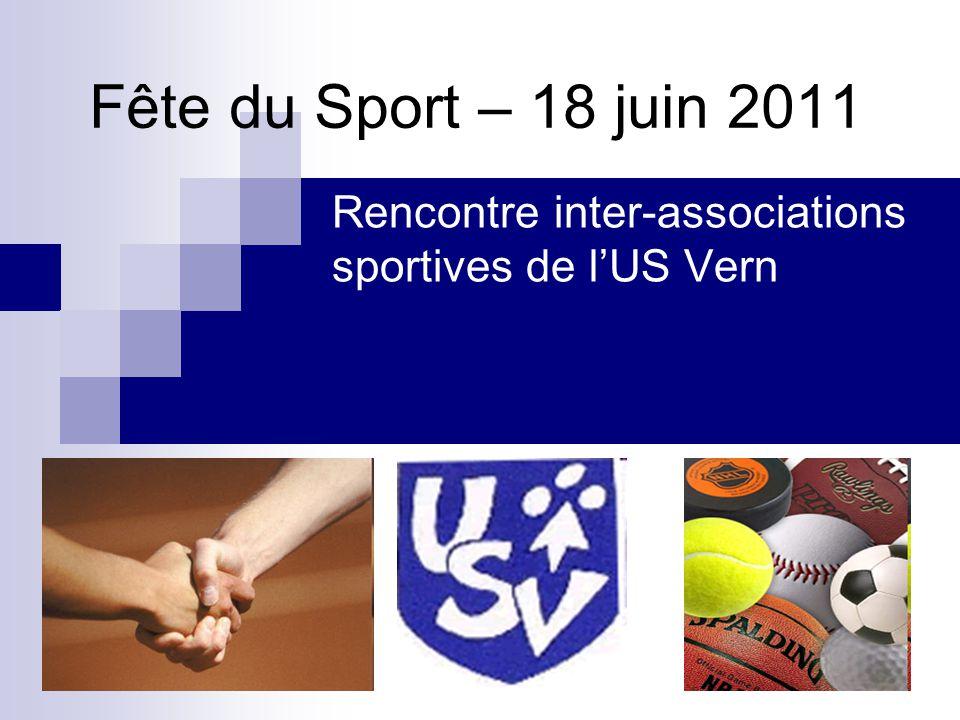 Fête du Sport – 18 juin 2011 Rencontre inter-associations sportives de lUS Vern