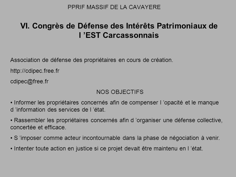PPRIF MASSIF DE LA CAVAYERE VI.