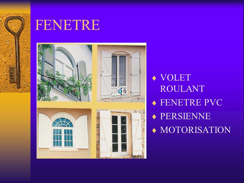FENETRE VOLET ROULANT FENETRE PVC PERSIENNE MOTORISATION