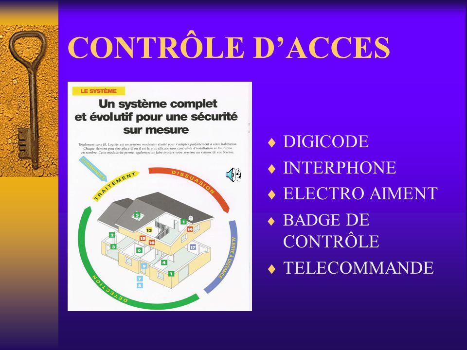 CONTRÔLE DACCES DIGICODE INTERPHONE ELECTRO AIMENT BADGE DE CONTRÔLE TELECOMMANDE