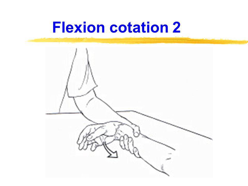 Flexion cotations 3 - 4 - 5
