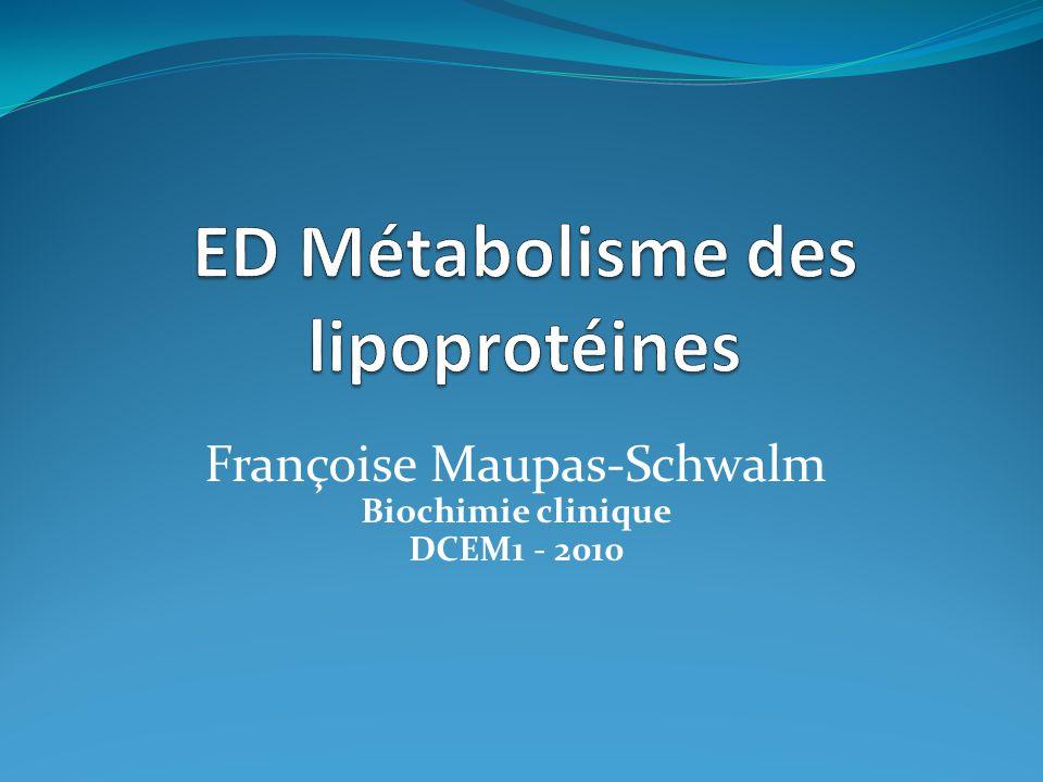Françoise Maupas-Schwalm Biochimie clinique DCEM1 - 2010