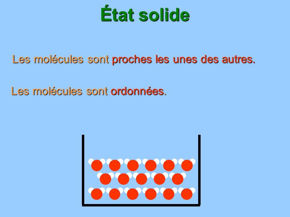 État solide les solides forment un bloc : ils ont une forme propre.