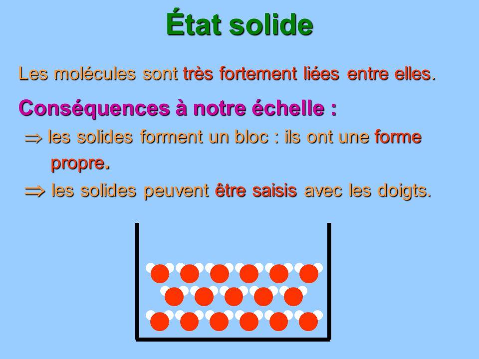 État solide les solides forment un bloc : ils ont une forme propre. les solides forment un bloc : ils ont une forme propre. les solides peuvent être s