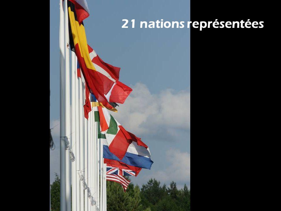 21 nations représentées