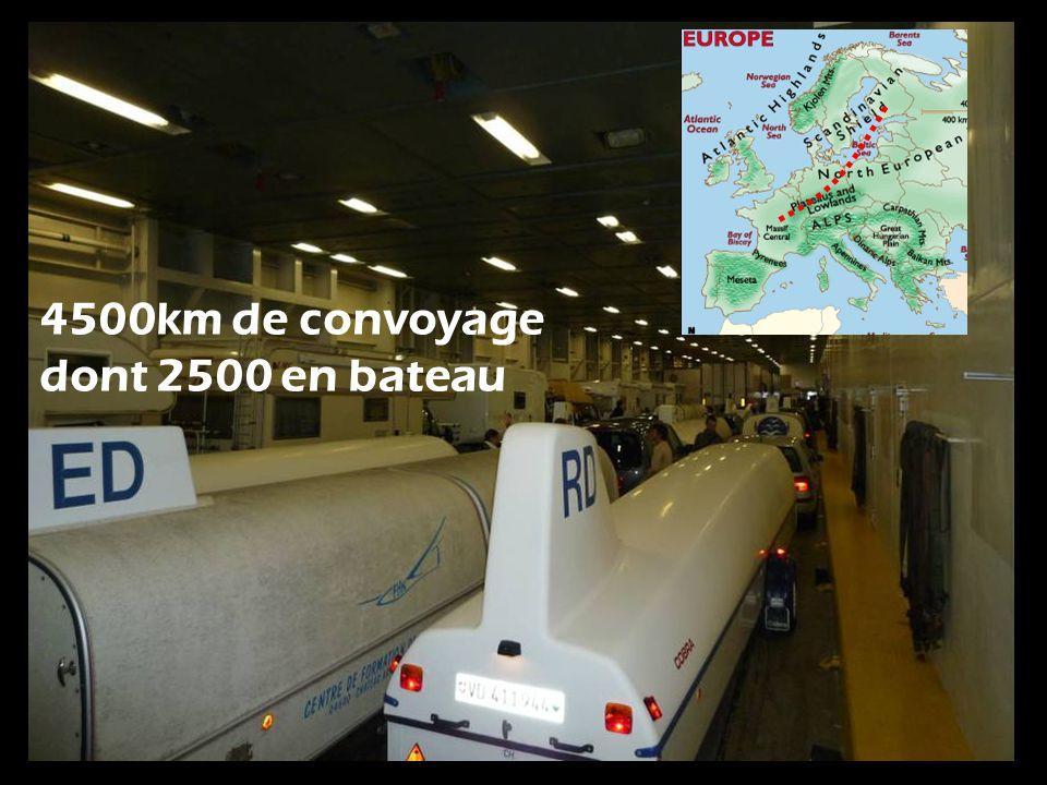 4500km de convoyage dont 2500 en bateau