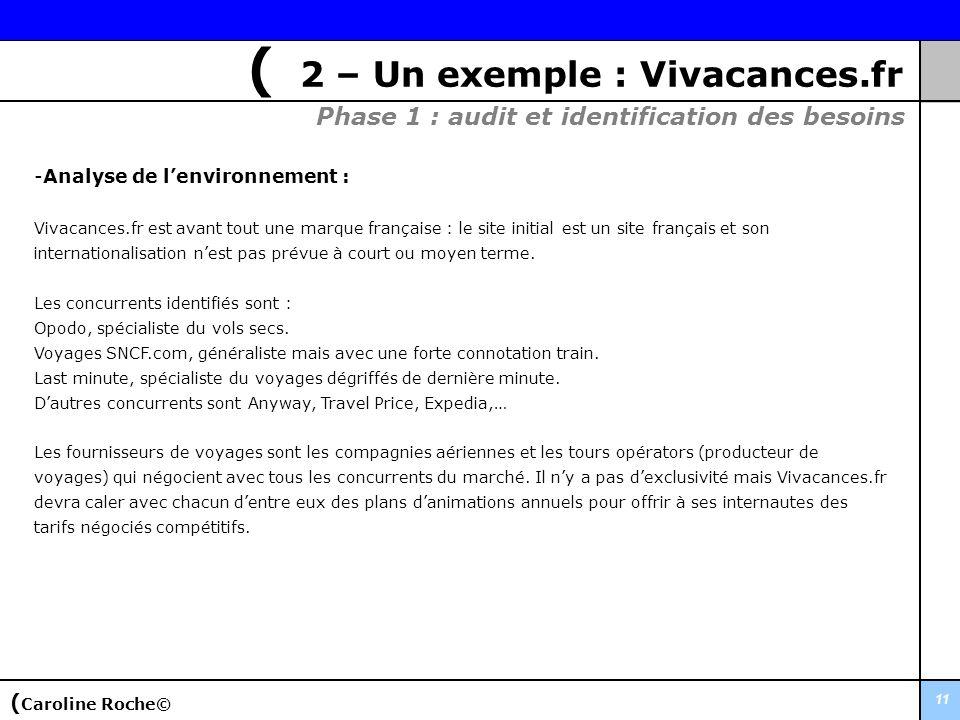 11 -Analyse de lenvironnement : Vivacances.fr est avant tout une marque française : le site initial est un site français et son internationalisation n