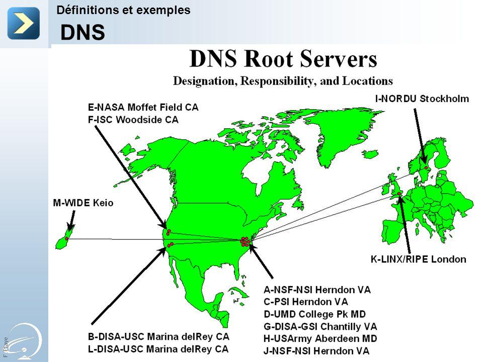 F. Playe Définitions et exemples DNS