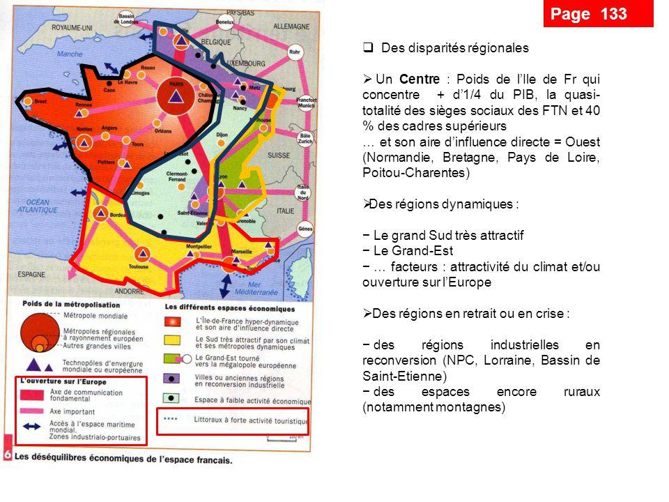 Un phénomène majeur organise le territoire, la métropolisation (concentrat° hms et activités ds villes) Une métropole mondiale : Paris Des métropoles régionales surtt à lO et au S … notamment liées aux technopôles