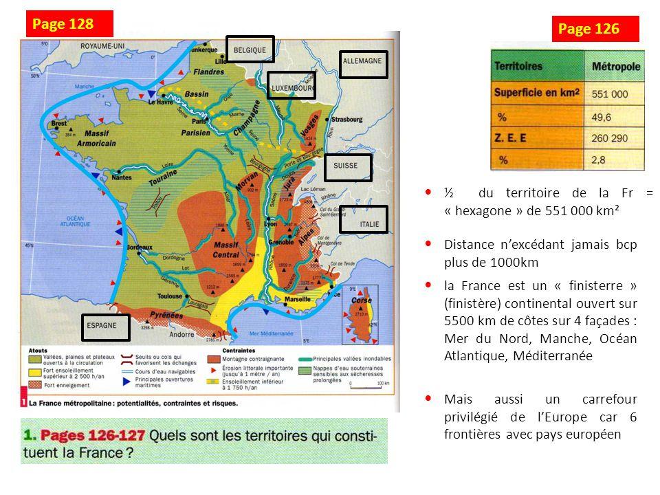 Mer du Nord Manche Océan Atlantique Mer Méditerranée Belgique Luxembourg Allemagne Suisse Italie Espagne Schéma 1 : La France, un carrefour européen
