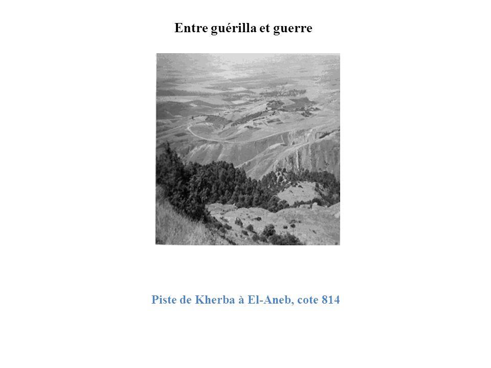 Piste de Kherba à El-Aneb, cote 814 Entre guérilla et guerre