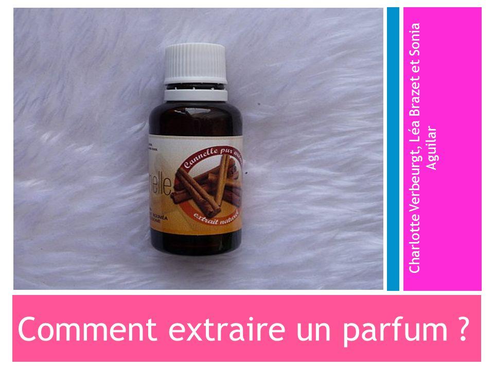 Comment extraire un parfum ? Charlotte Verbeurgt, Léa Brazet et Sonia Aguilar