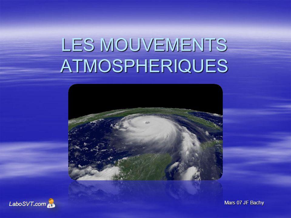 LES MOUVEMENTS ATMOSPHERIQUES Mars 07 JF Bachy