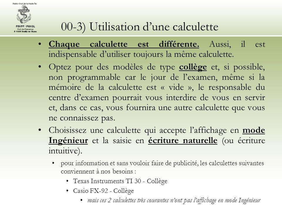 00-3) Utilisation dune calculette Quelques calculettes : Quelques collectorsDeux classiques : FX-92 et TI-Collège