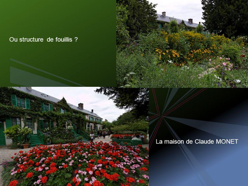La maison de Claude MONET Ou structure de fouillis ?