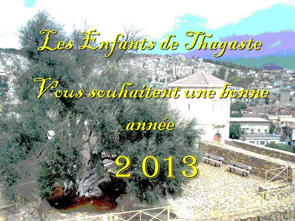 Les Enfants de Thagaste Vous souhaitent une bonne année 2 013