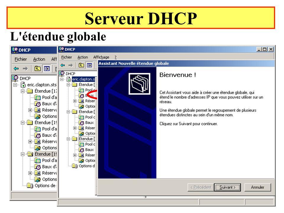 Yonel Grusson41 Serveur DHCP L étendue globale État initial
