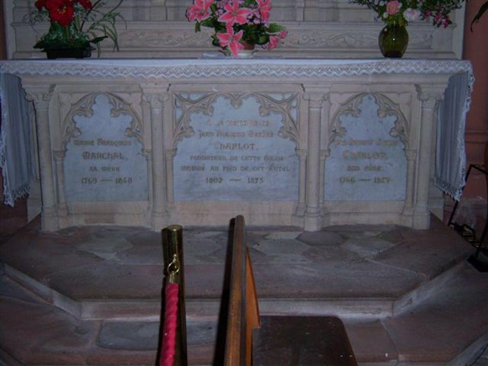 Inhumé au pied de cette autel 1802----1875