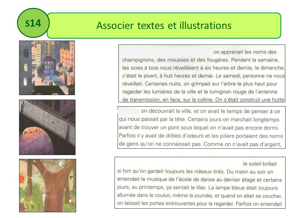 Associer textes et illustrations S 14