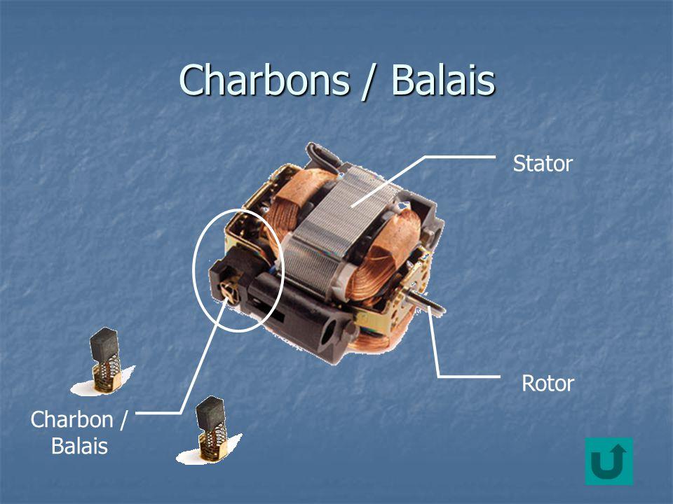 Charbons / Balais Stator Rotor Charbon / Balais