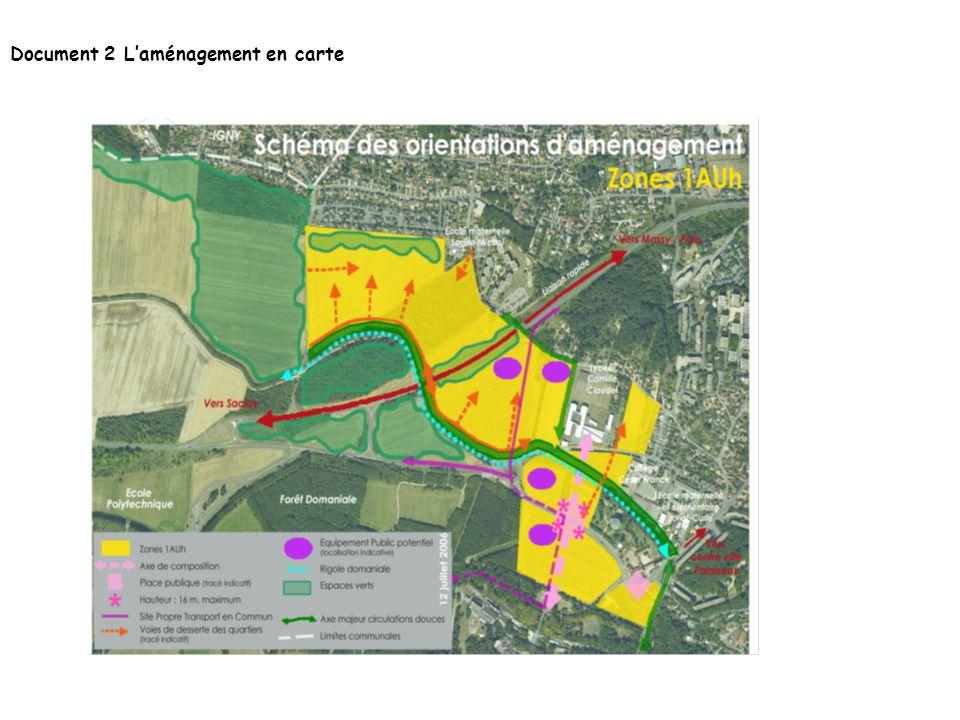 Document 2 Laménagement en carte