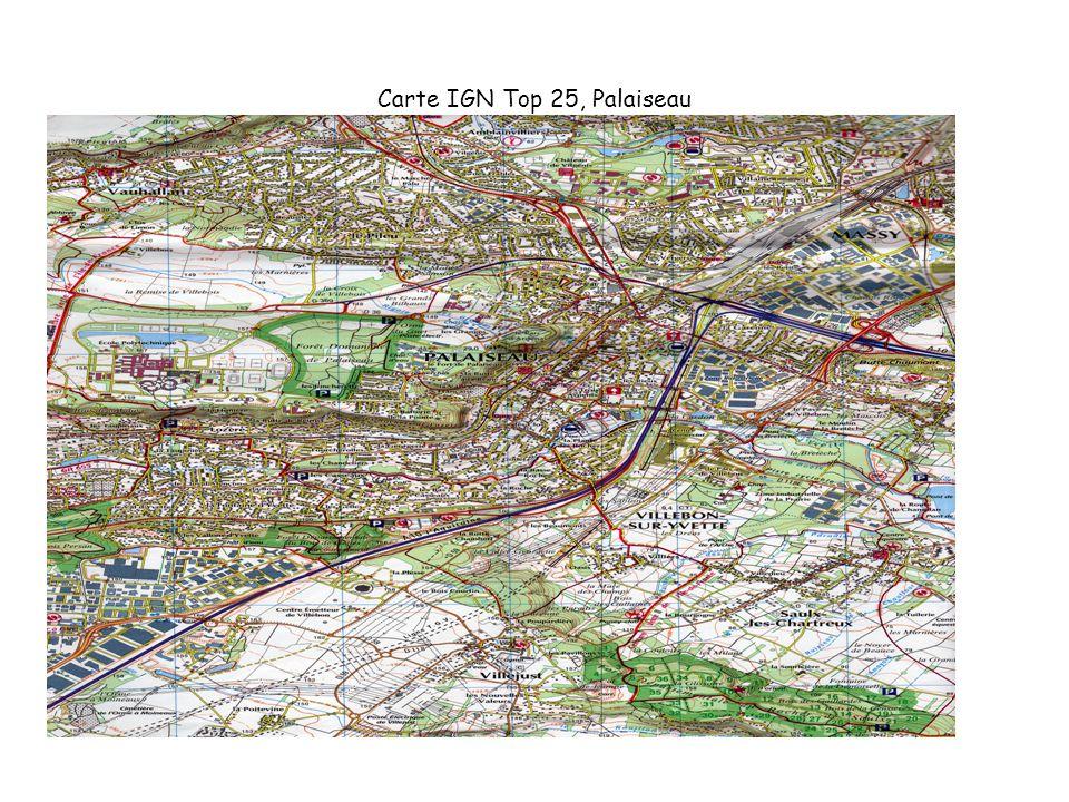 Carte IGN Top 25, Palaiseau