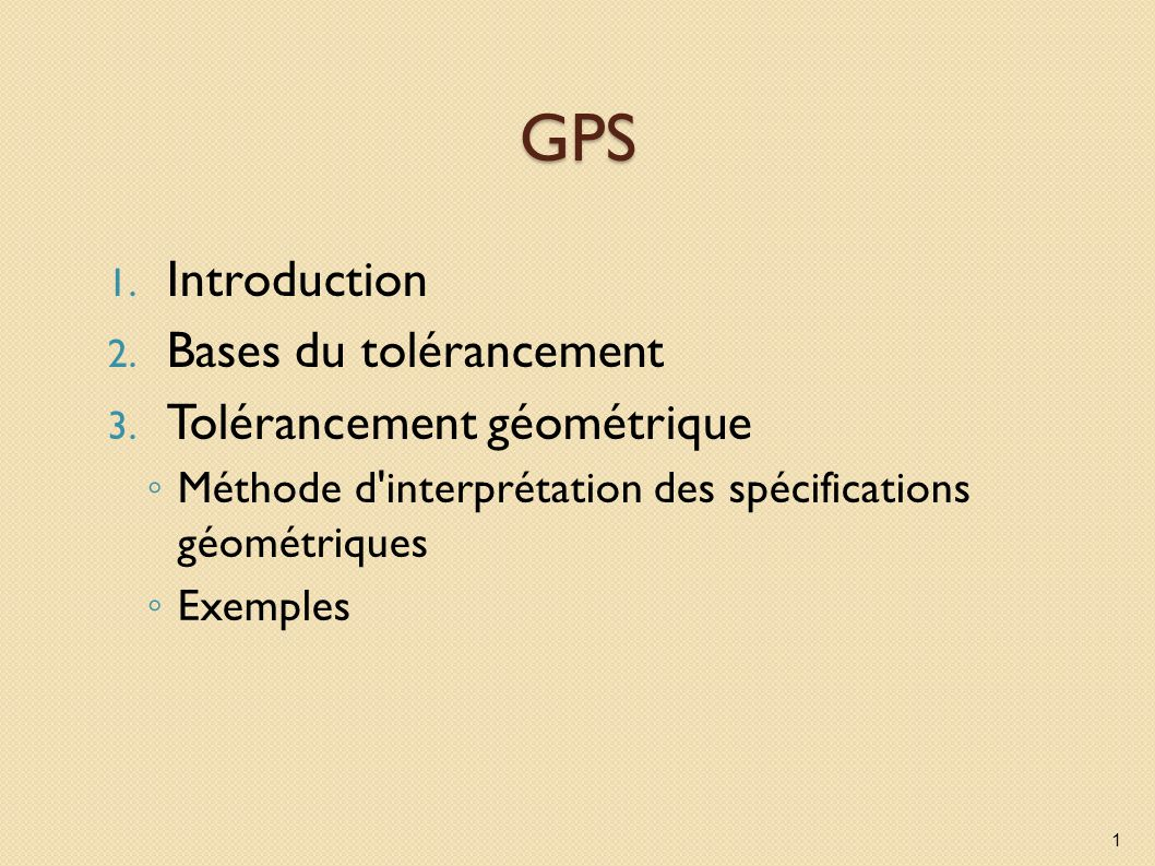 3.Tolérancement géométrique Construction de la zone de tolérance (ZT) partagée sur A5 et A6 Définir la position de la ZT : par la construction du support de la ZT (A5) La ZT est centrée sur le support ou symétrique par rapport au support Définir la forme et la dimension de la ZT (A6) 32