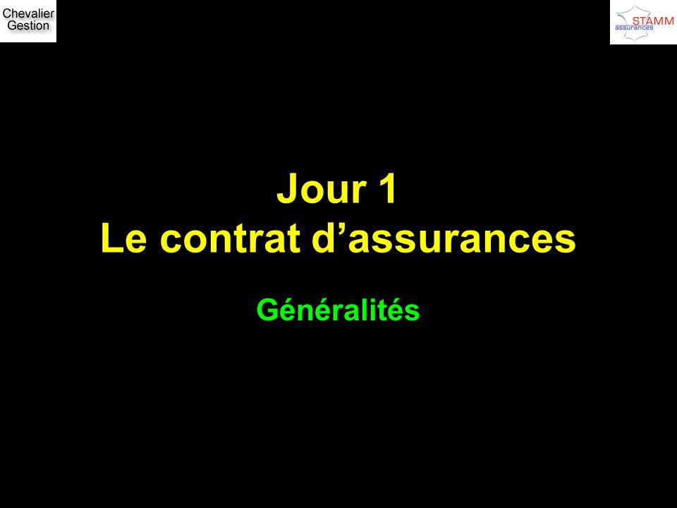 Jour 1 Le contrat dassurances Généralités