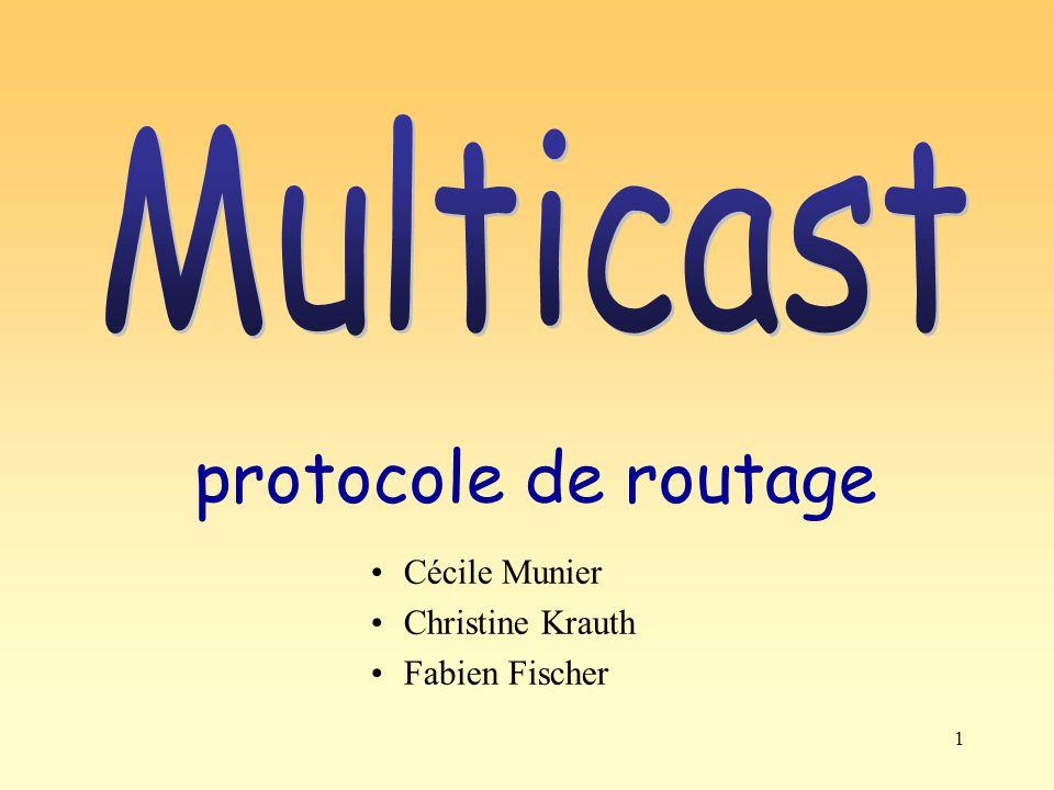 12 Mbone : Multicast Backbone La partie de l Internet utilisant le multicast est appelée Mbone.