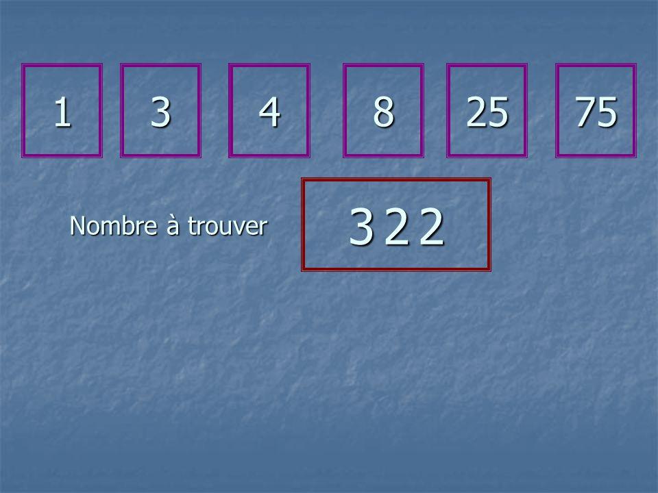Nombre à trouver 13482575 3 2 23 2 23 2 23 2 2