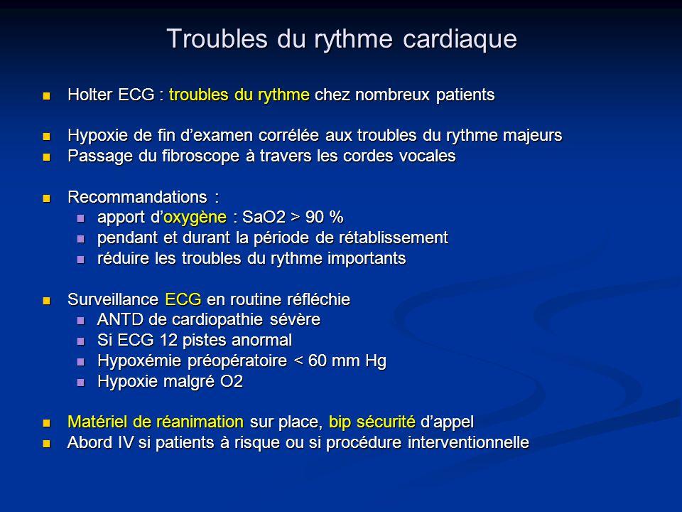 Troubles du rythme cardiaque Holter ECG : troubles du rythme chez nombreux patients Holter ECG : troubles du rythme chez nombreux patients Hypoxie de