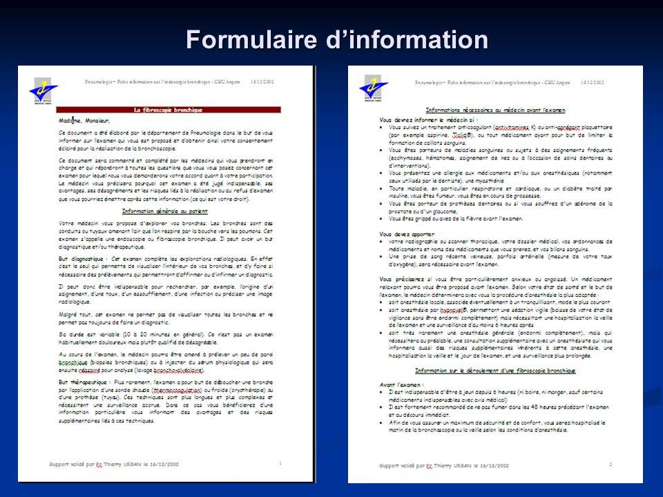 Formulaire dinformation