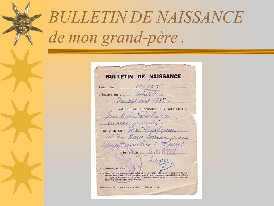 MES GRAND-PARENTS PATERNELS Catherine TRIVIDIC Jean-Marie GOURLAOUEN