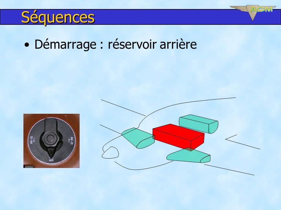 Séquences Démarrage : réservoir arrière