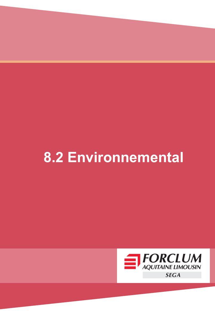8.2 Environnemental