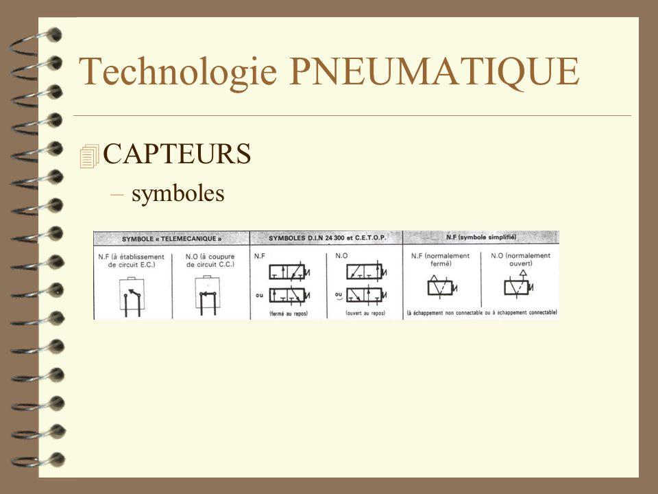 Technologie PNEUMATIQUE 4 CAPTEURS –symboles