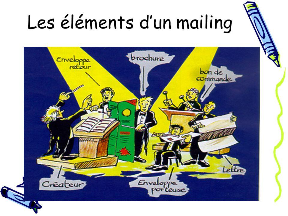 Les éléments dun mailing
