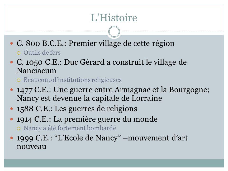 LHistoire C. 800 B.C.E.: Premier village de cette région Outils de fers C.